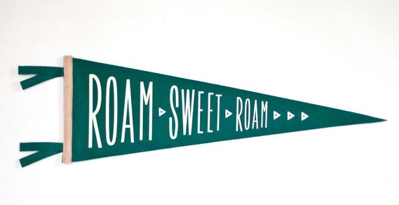 The ROAM SWEET ROAM Pennant By Blackbird supply