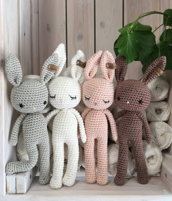 Crochet Bunny By Unepelotedelaine