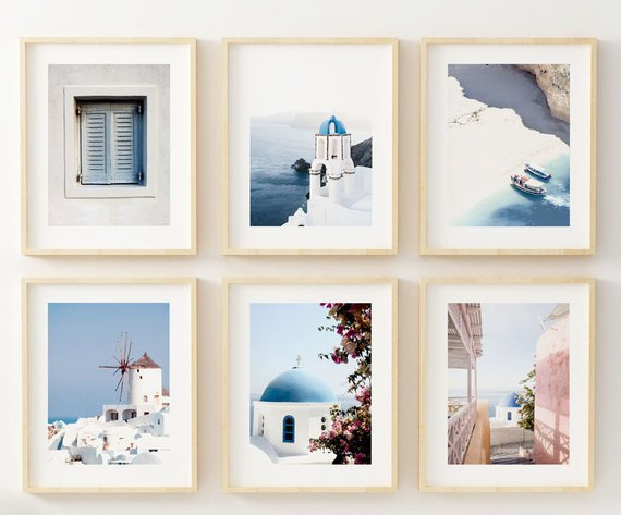 Greece Travel Print By LittleLiefCreative