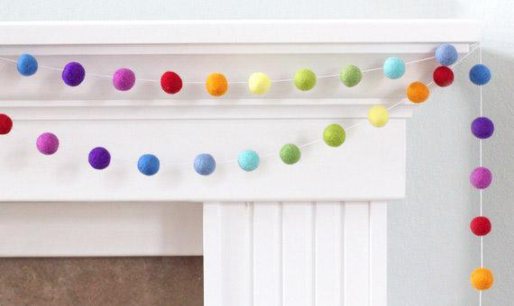 Shop colorful garlands handmade by MatthewAndMae.