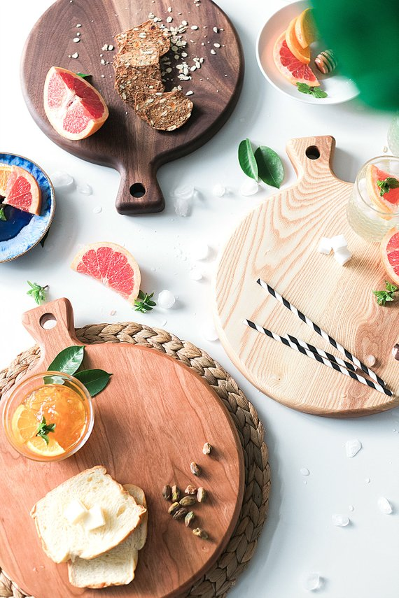 Classic Round Serving Boards By HookAndStemCo