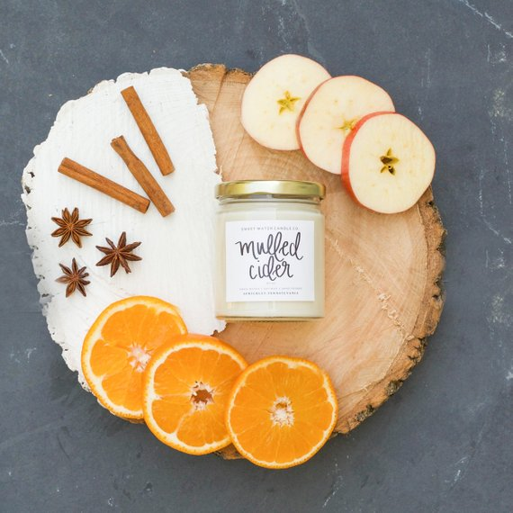 Mulled Cider Candle By Sweetwaterdecor