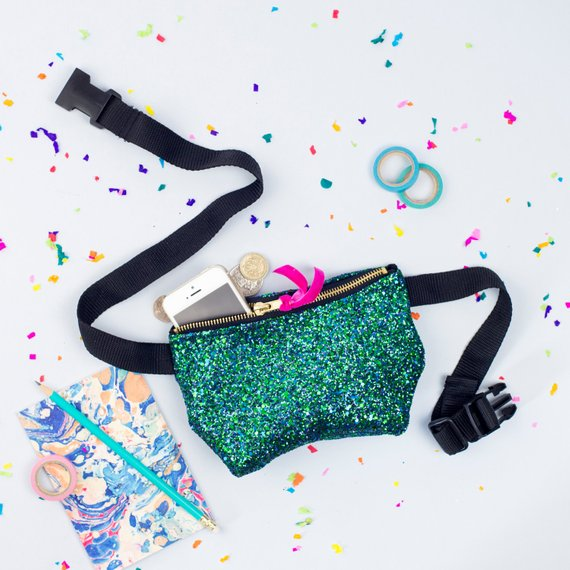 Mermaid Glitter Party Bum Bag By PupTartHandmade