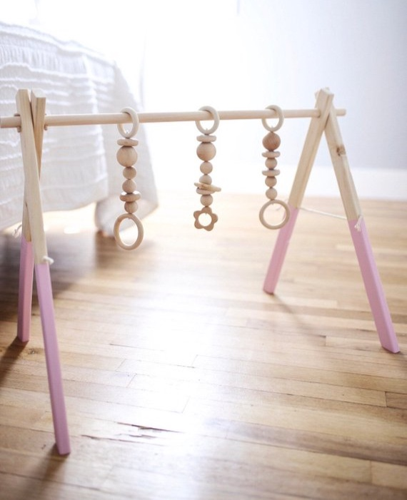 Wooden Activity Baby Play Gym By TimberTotShop