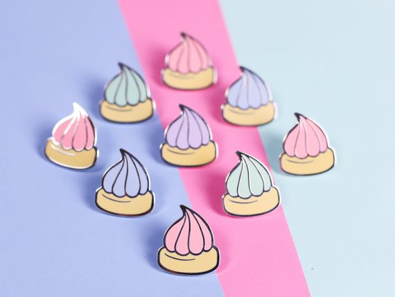 Pastel Iced Gem Biscuit Enamel Pin By Nikkimcwilliams
