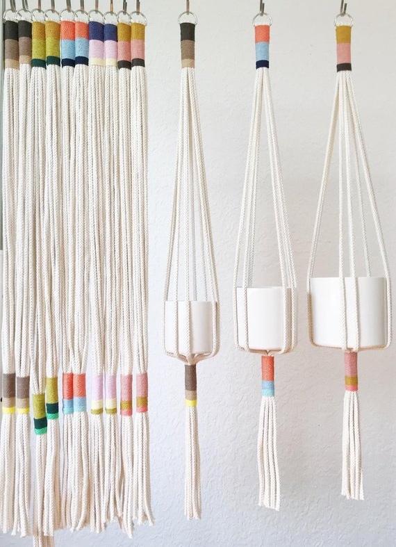 Slim Color Block Plant Hanger By Yerbamaladesigns
