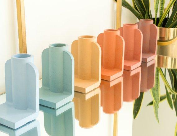 Modern Concrete Color Pop Vase By Surpoint