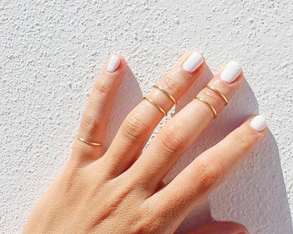 Gold Midi Ring Set By TinyBoxJewelry