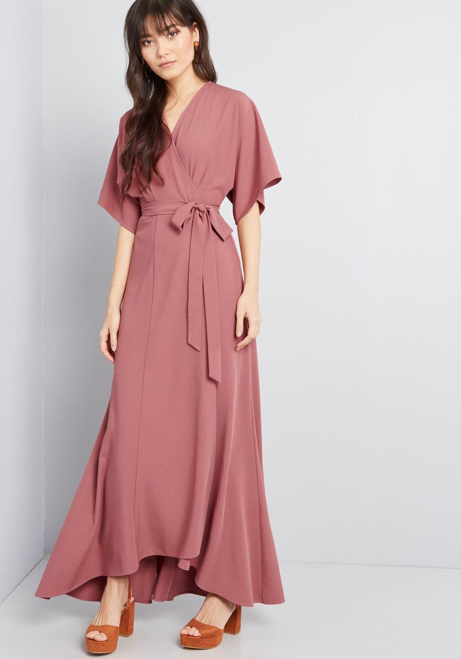 Everlasting Impression Maxi Wrap Dress By ModCloth