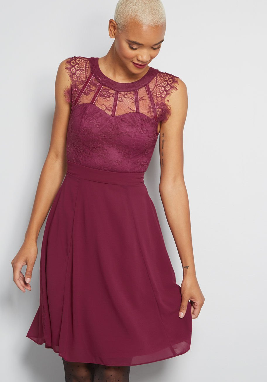 Sophisticated Spin A-Line Dress By ModCloth
