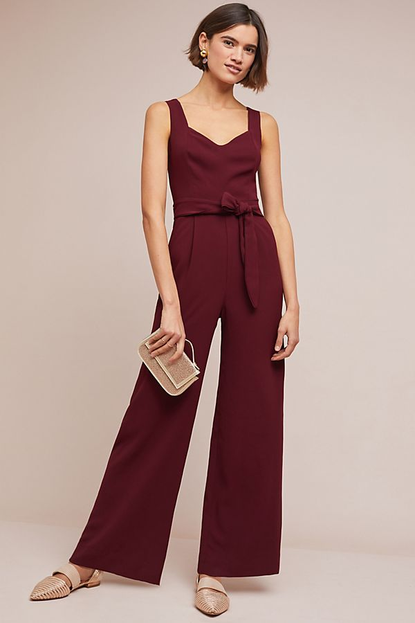 The Essential Belted Jumpsuit By Anthropologie