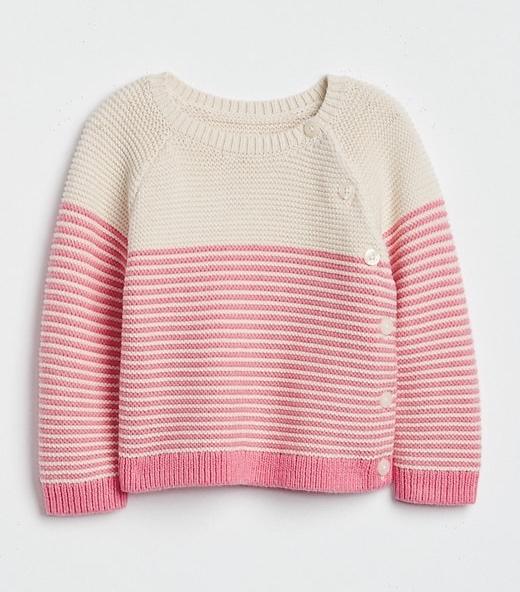 Stripe Garter Sweater By Gap
