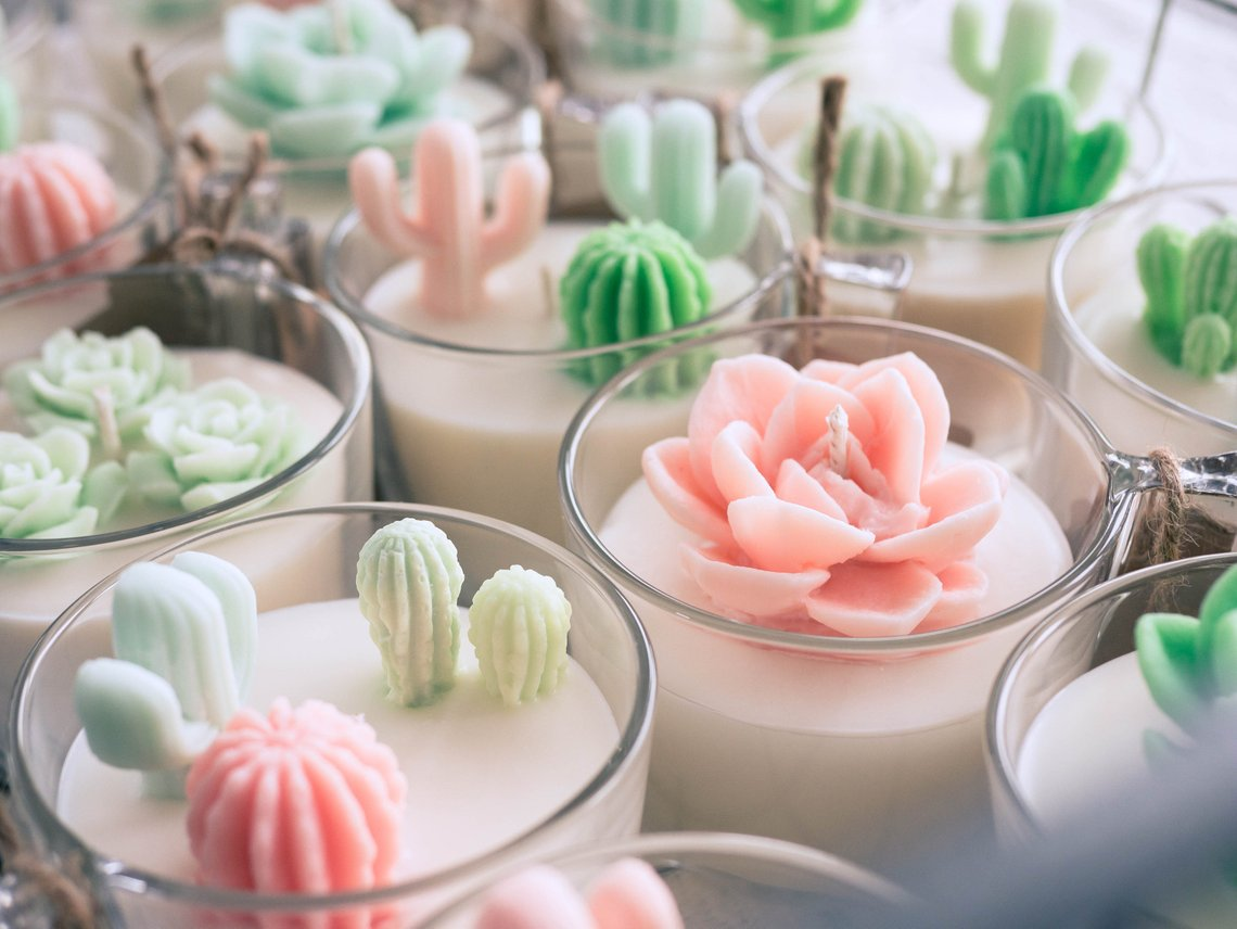 3-piece Cacti Candle By ZoetStudio