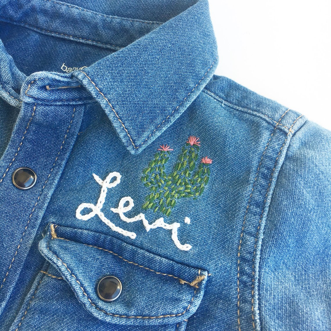 Custom Hand Embroidered Denim Jacket By PFPosey