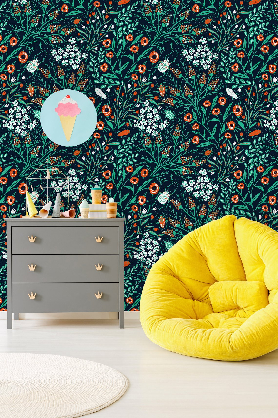 Blooms and Colored Beetles By MilkyWayDecor