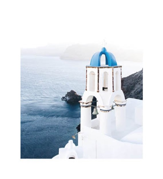 Santorini Travel Art Print By LittleLiefCreative