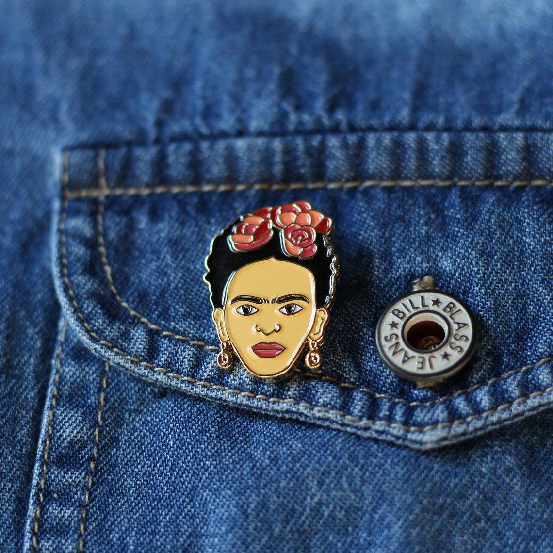 Frida Enamel Pin By RealSicStuff