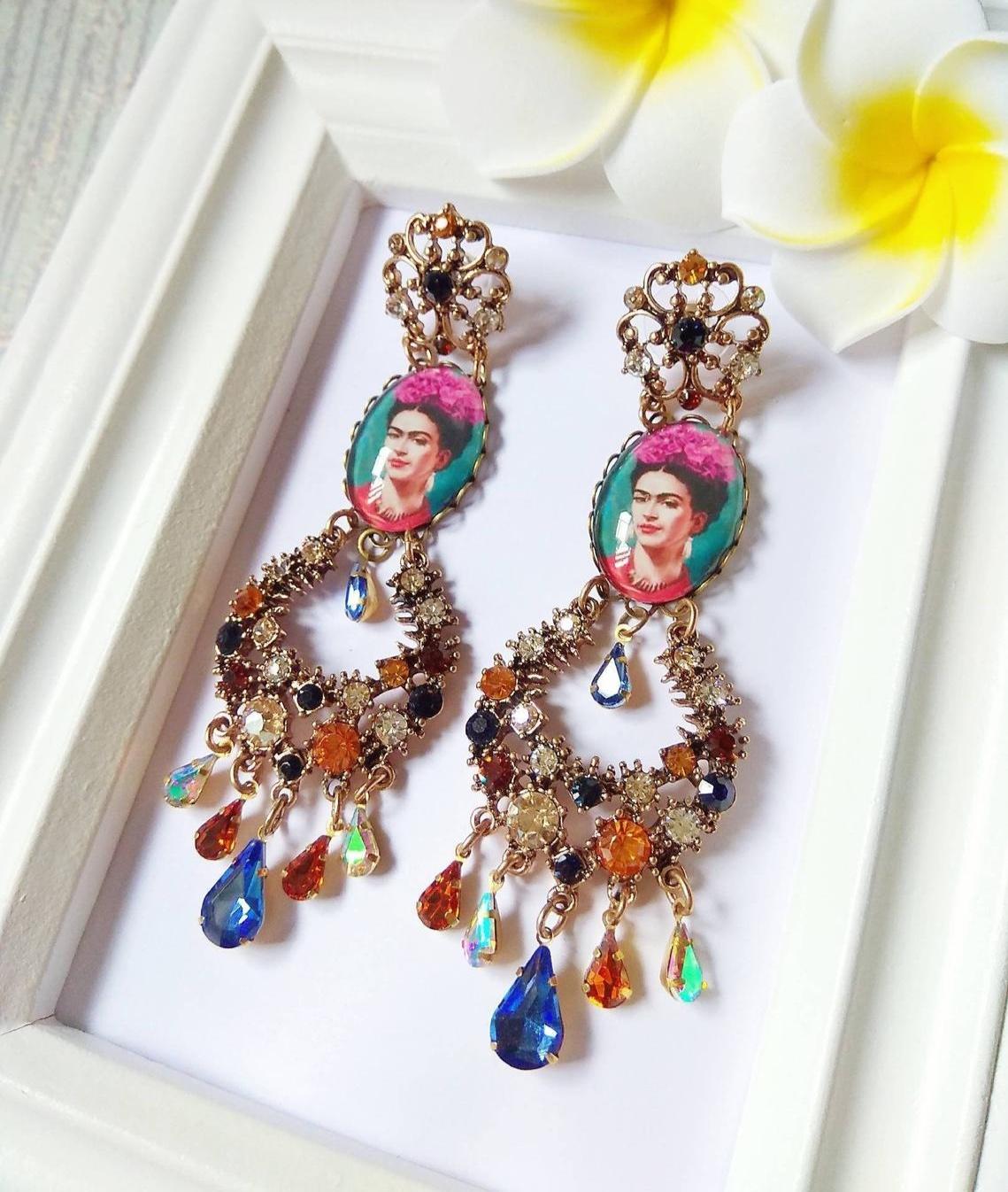 Frida Kahlo Handmade Chandelier Earrings By STartsBoho