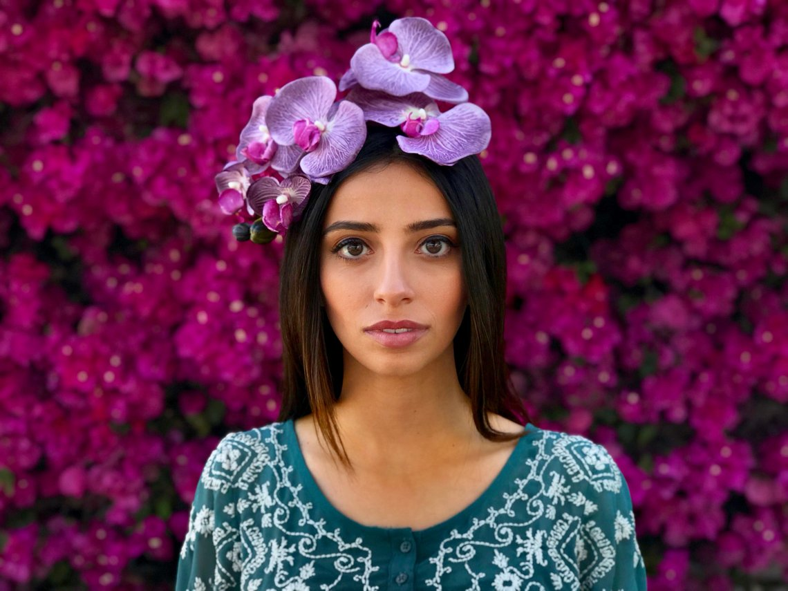 Lavender Orchid Fascinator By DavoudCollective