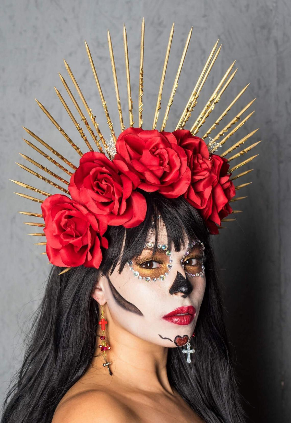 Virgin Mary Día de los Muertos Crown Headpiece By HeadpieceHeiress