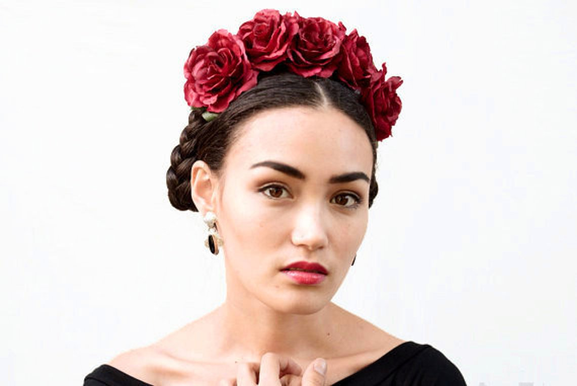 Red Rose Flower Crown By BloomDesignStudio