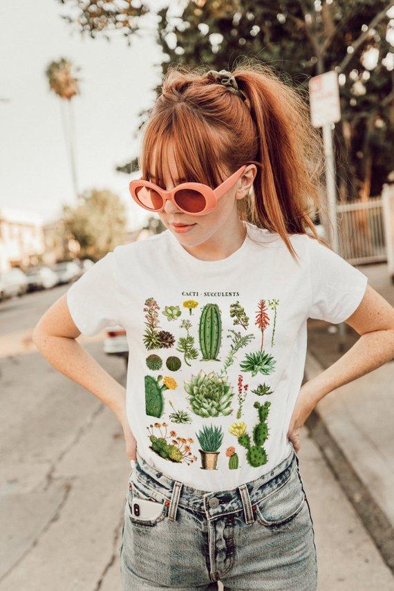 Cacti Of The Desert Graphic Tee By SouvenirAndFar