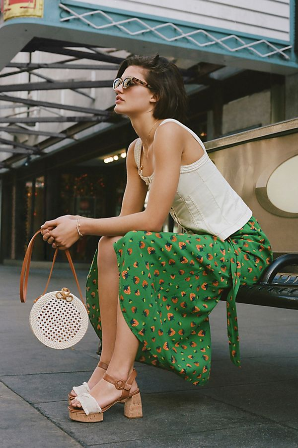 Colloquial Tied Skirt By Anthropologie