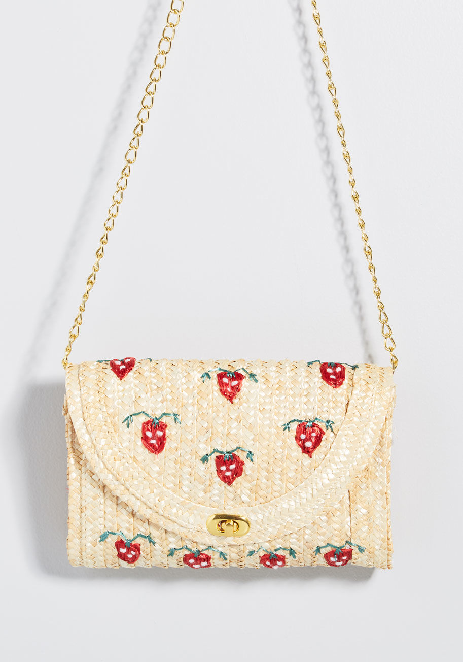 Strawberries in Season Clutch By ModCloth