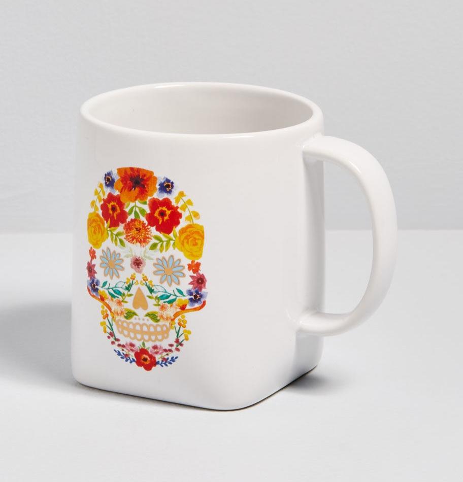 Blossoming Noggin Skull Mug By ModCloth