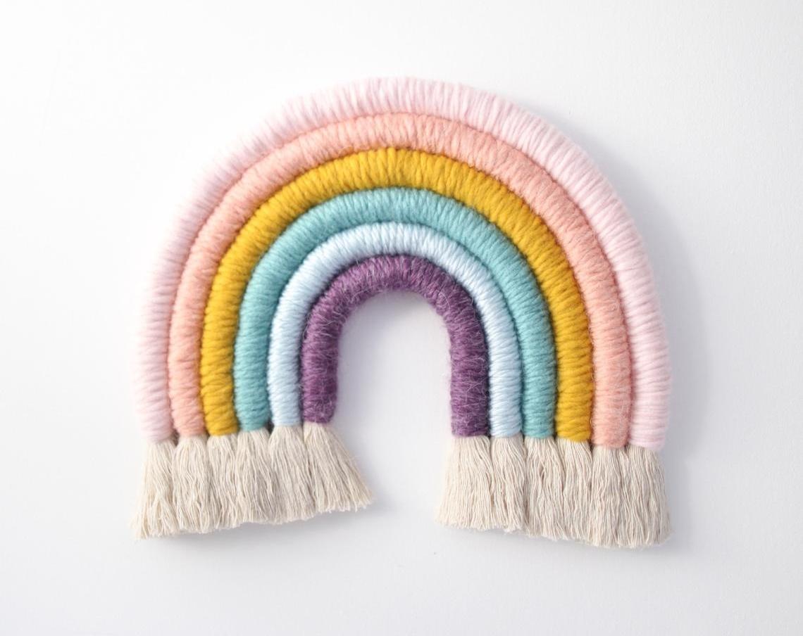 Fiber Rainbow Wall Hanging By MandiSmethells