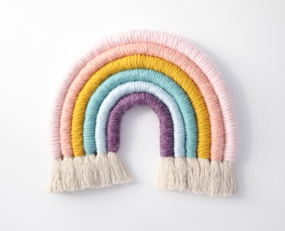 Fiber Rainbow Wall Hanging By MandiSmethells