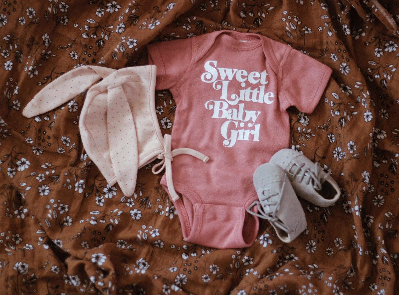 Sweet Little Baby Girl Onesie By Kal and Co