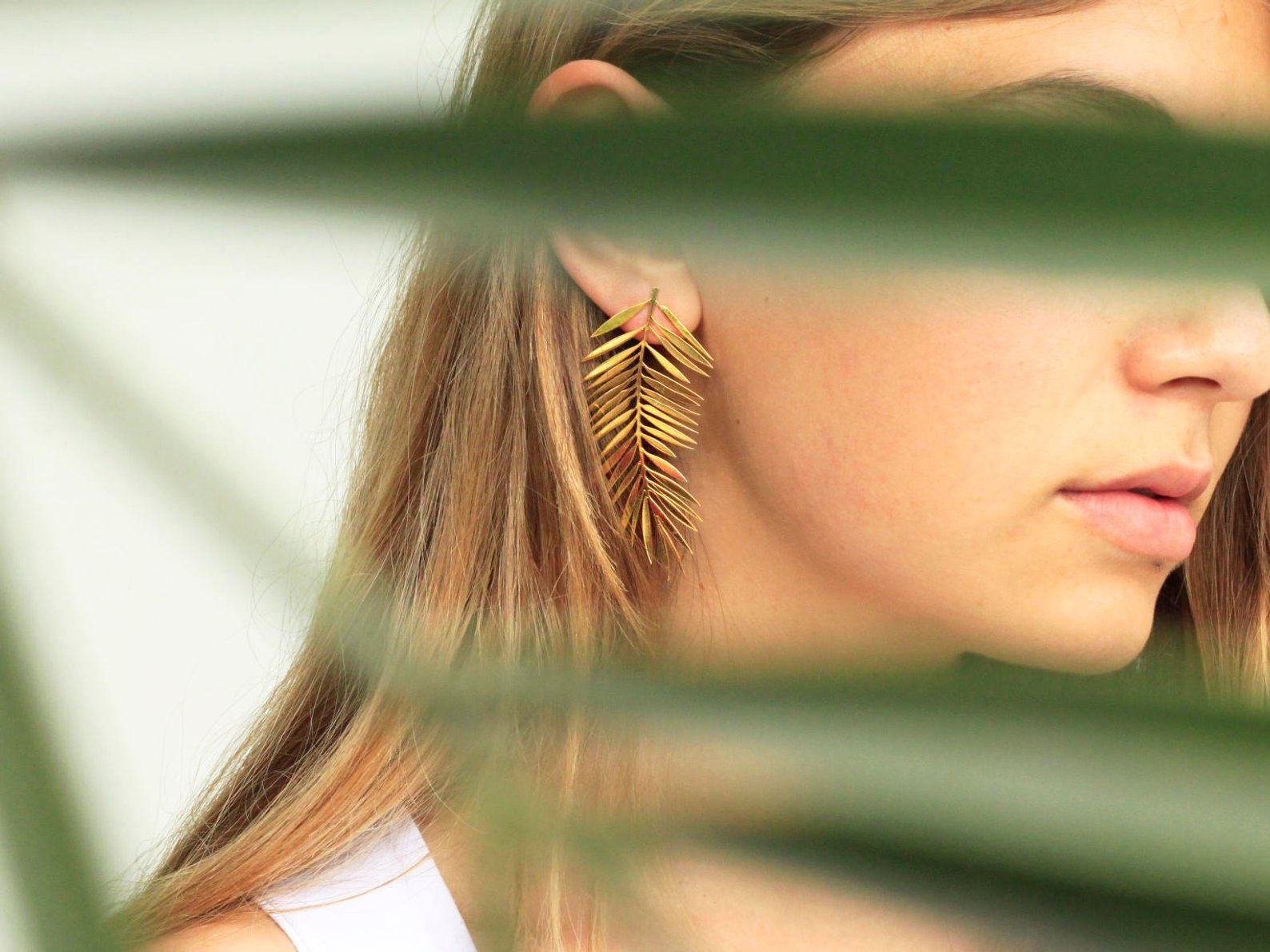 Palm Leaves Earrings By Yukabyguliz