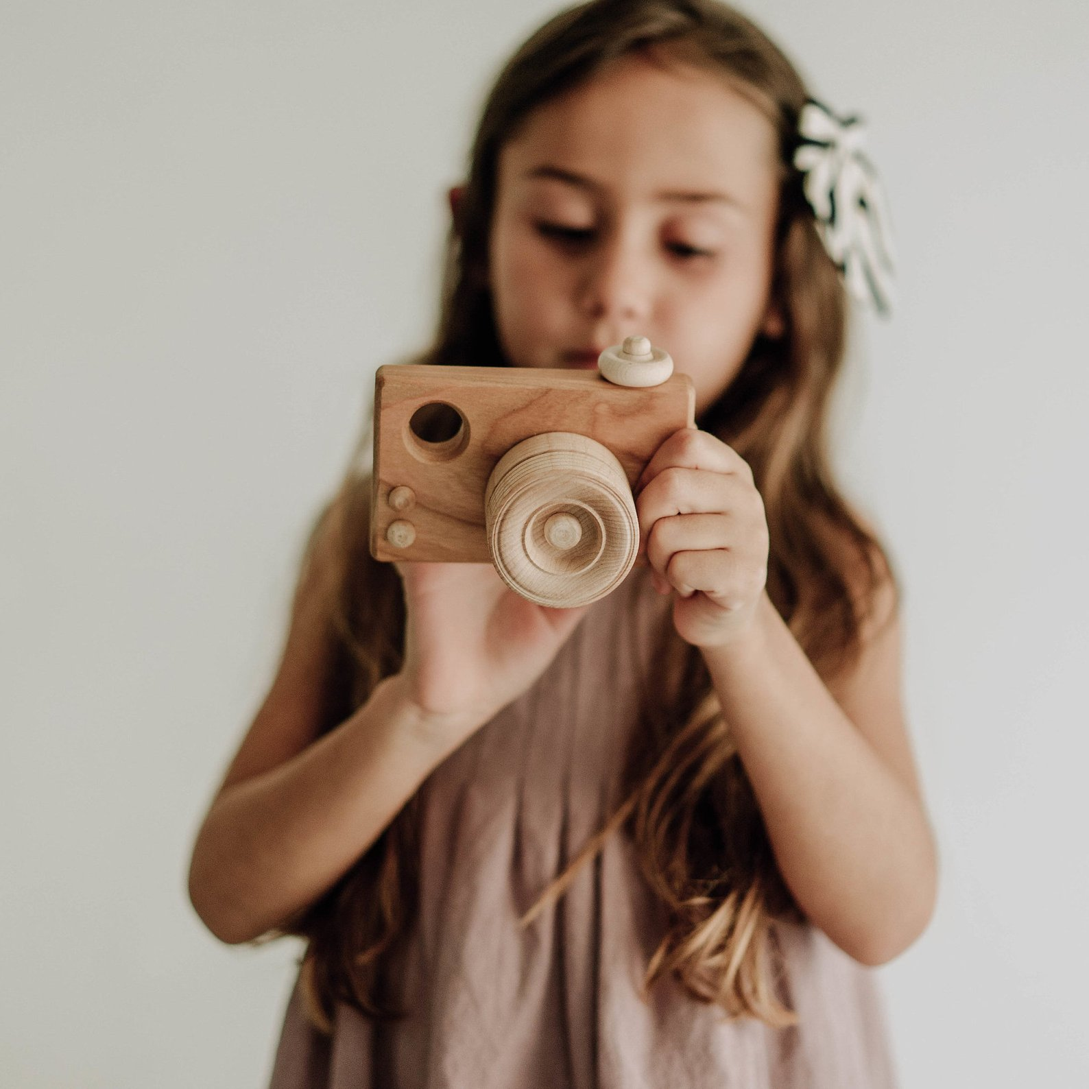Organic Wooden Toy Camera By Bannor Toys