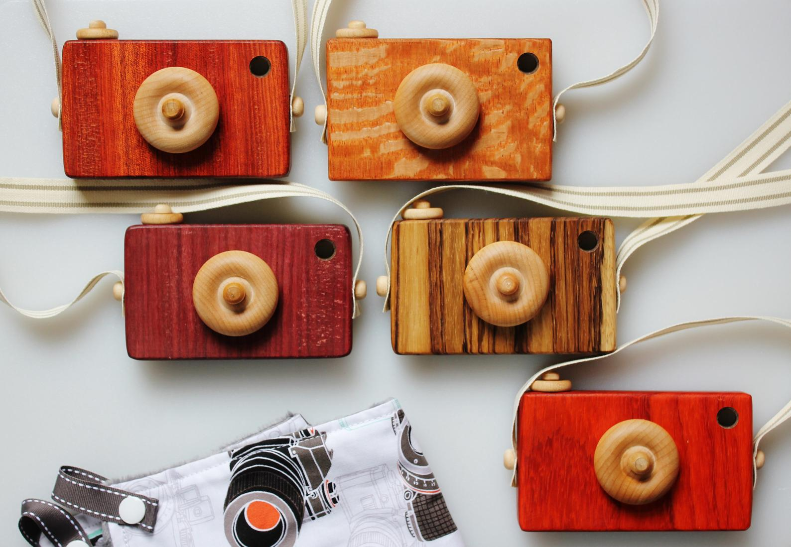 Exotic Wood Camera Toy By Paci Catchers