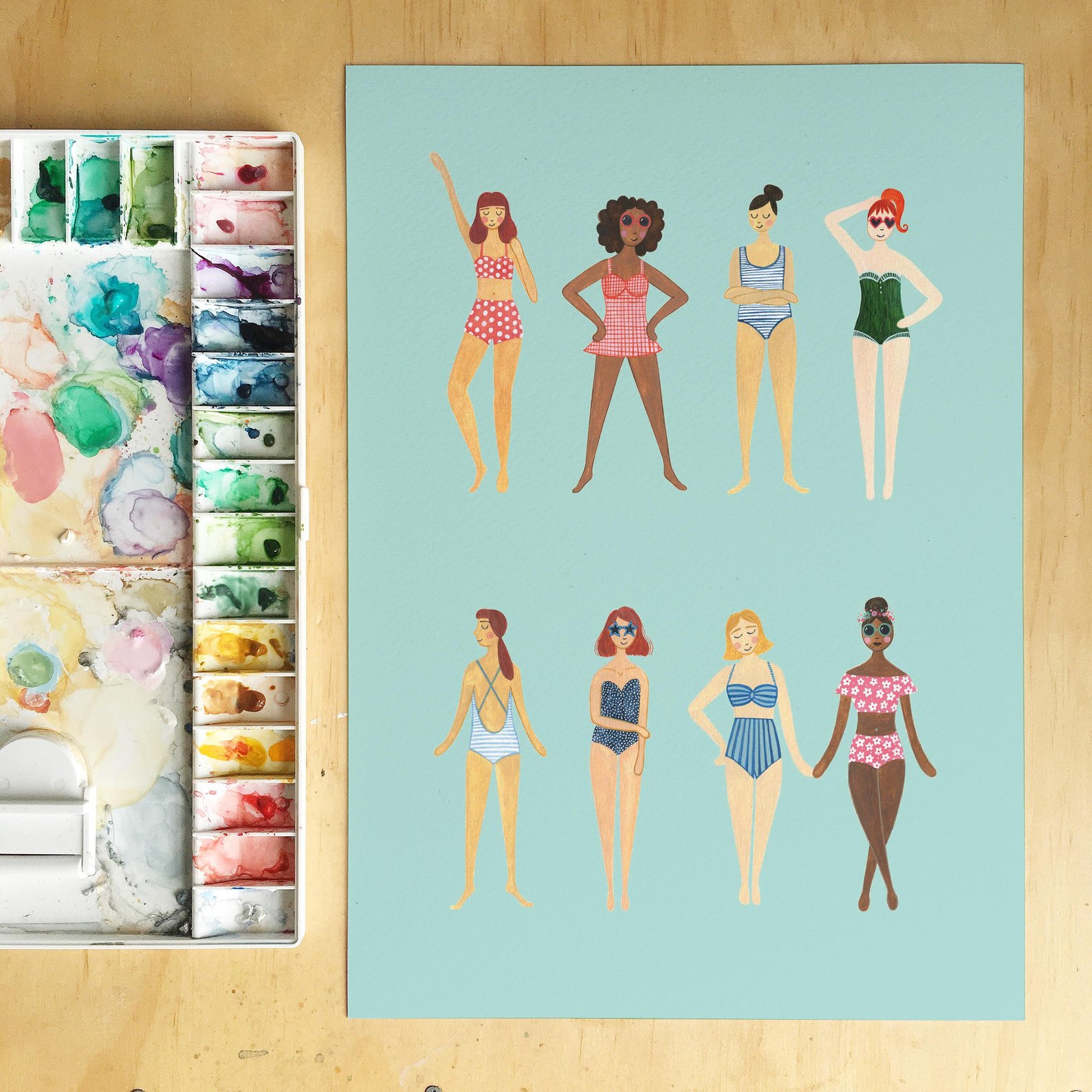 The Swimmers Art Print By Andrina Manon