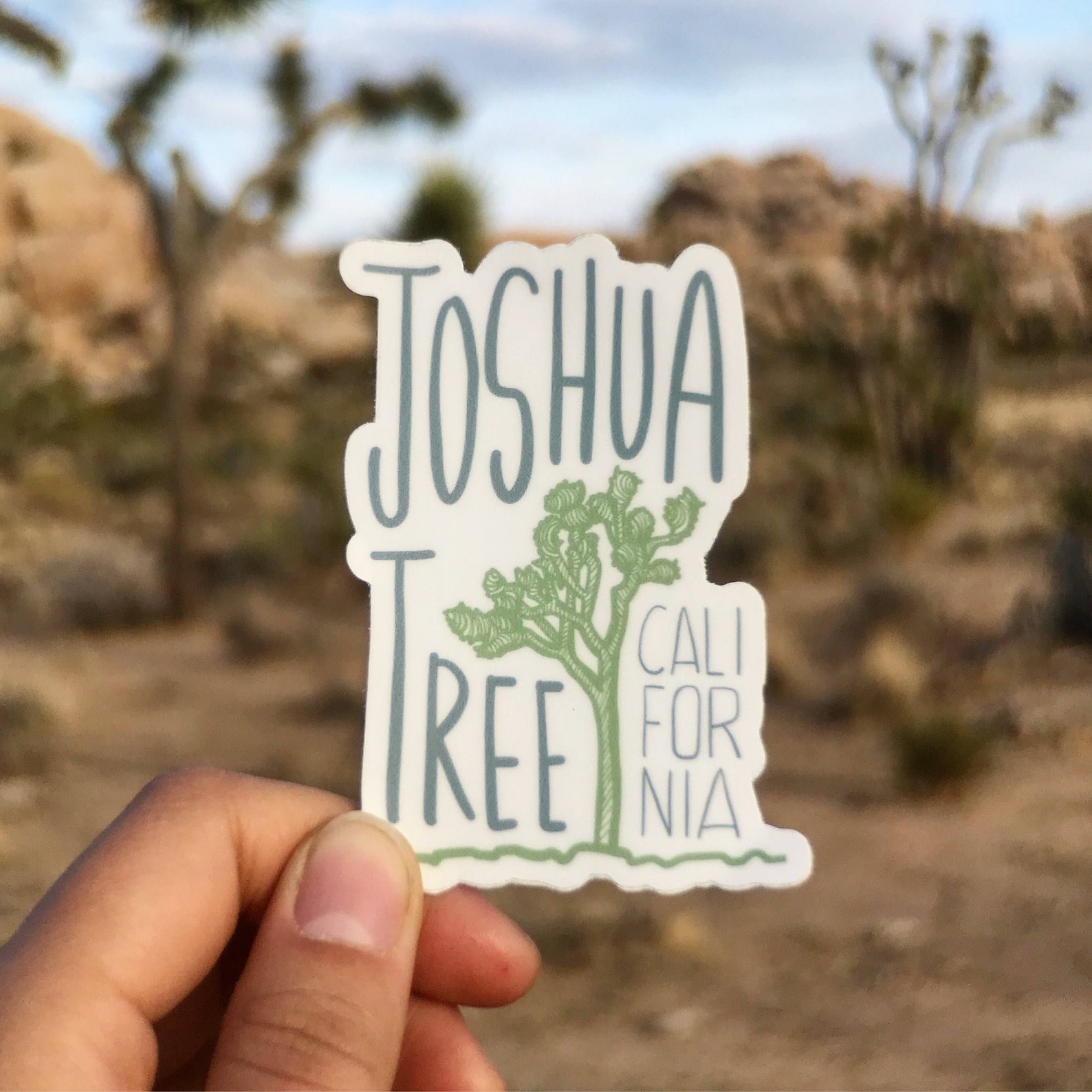 Joshua Tree National Park Vinyl Sticker By Imperfect Crafts Shop