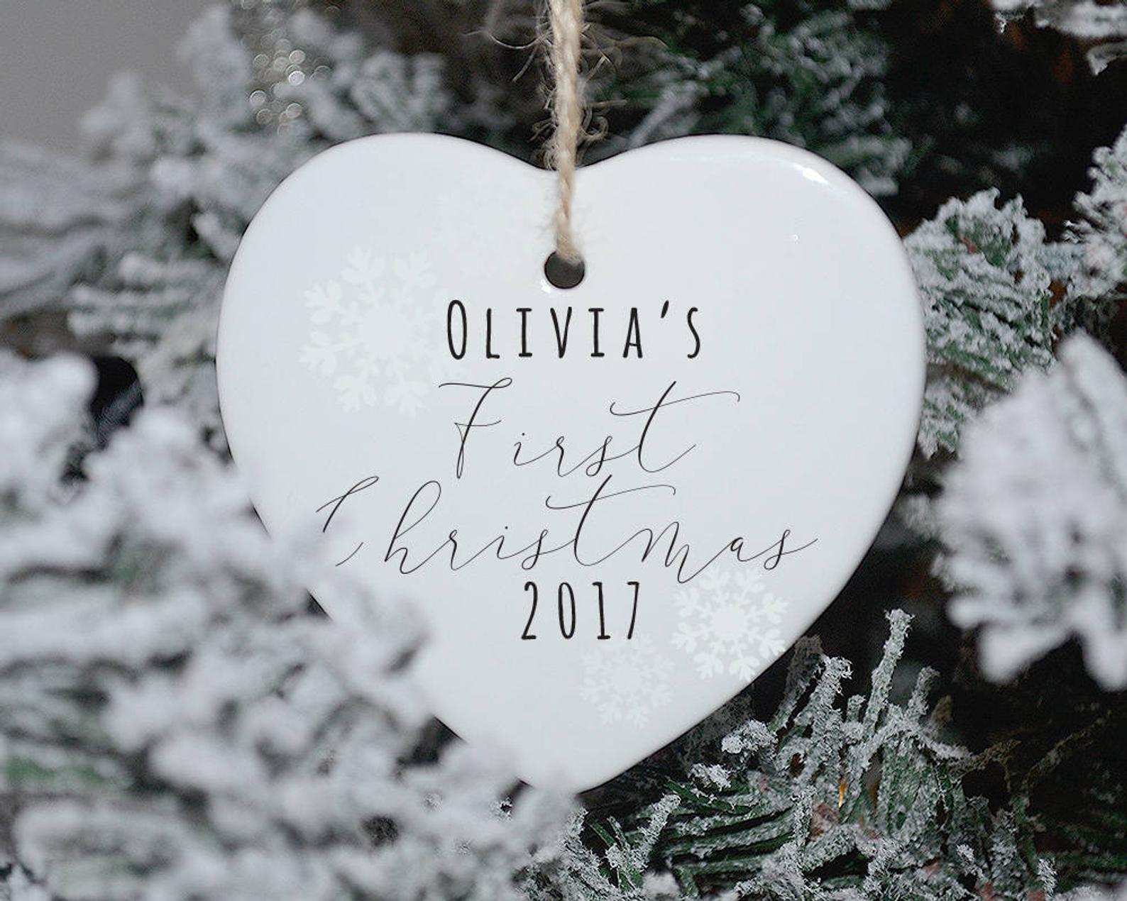 Personalized Baby's First Christmas Bauble By Handmade Designs UK