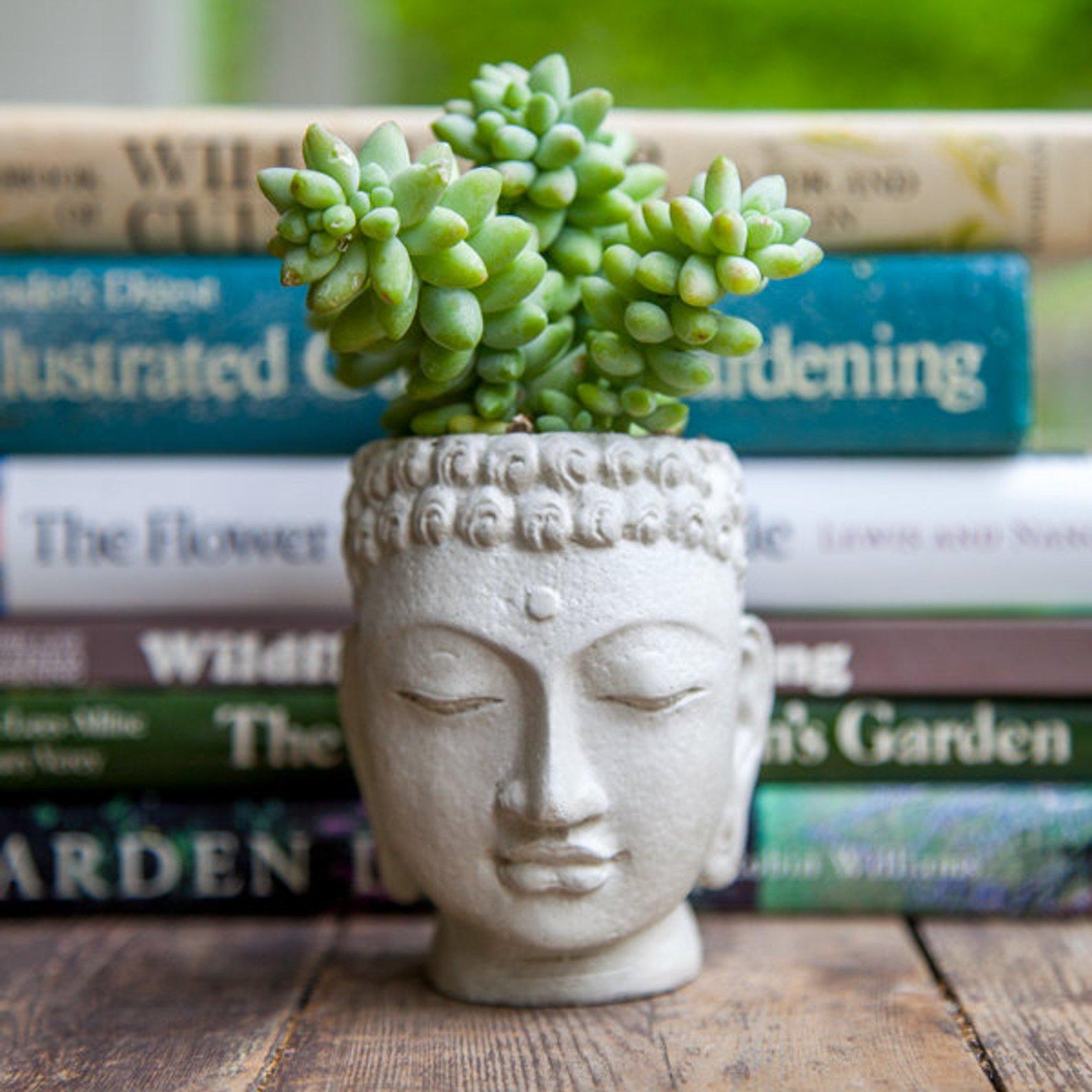 Buddha Head Planter By Brooklyn Global