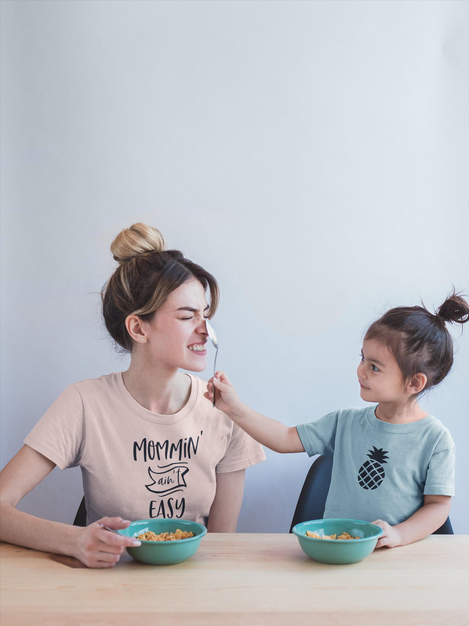 Mommin' Aint Easy Tee By Comfy Cozy Are We