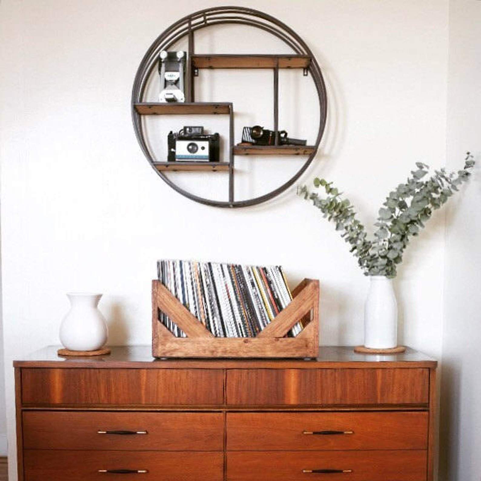 Vinyl Record Storage By Wicker Wood Works