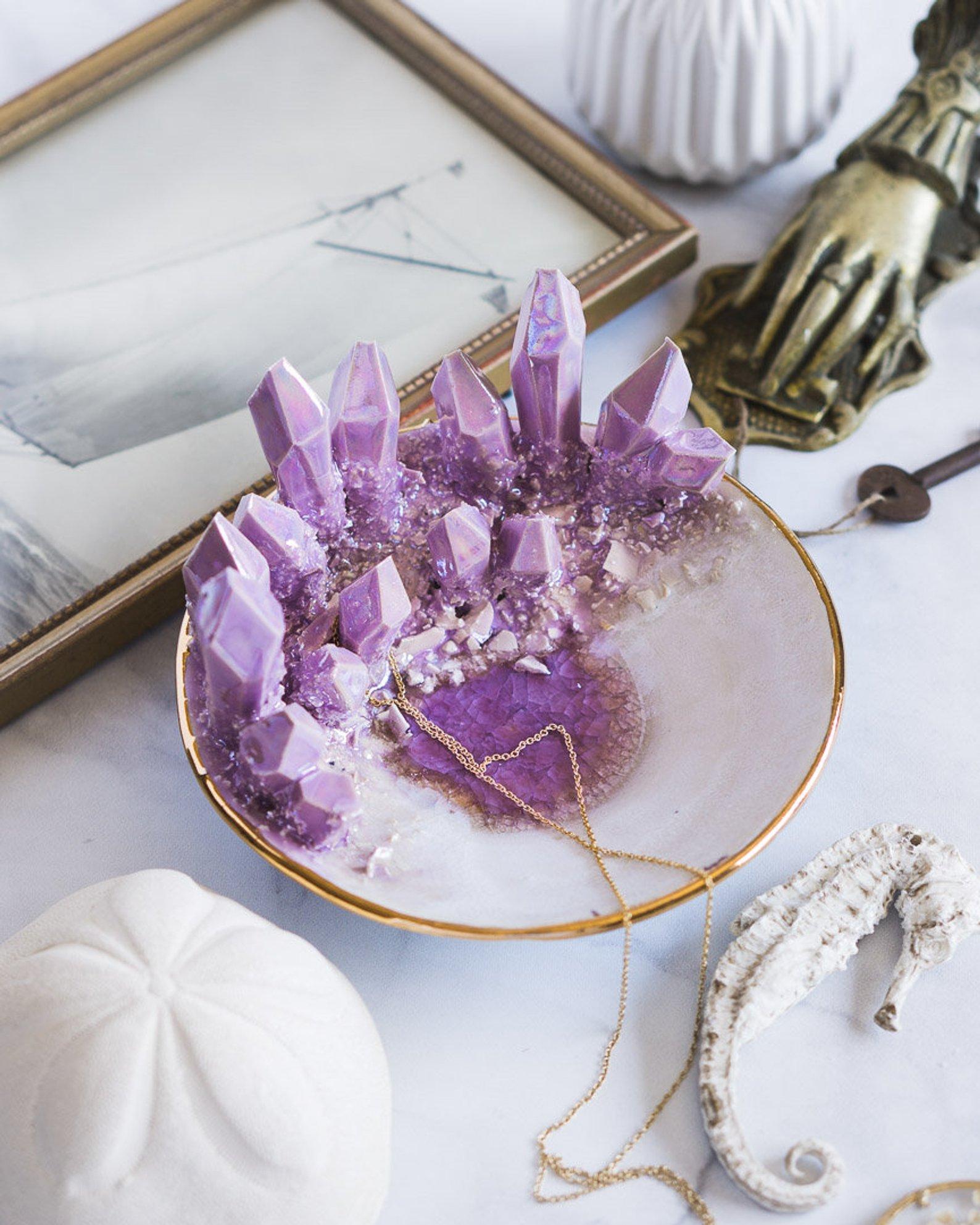 Design-Your-Own Amethyst Crystal Dish By Essarai Ceramics