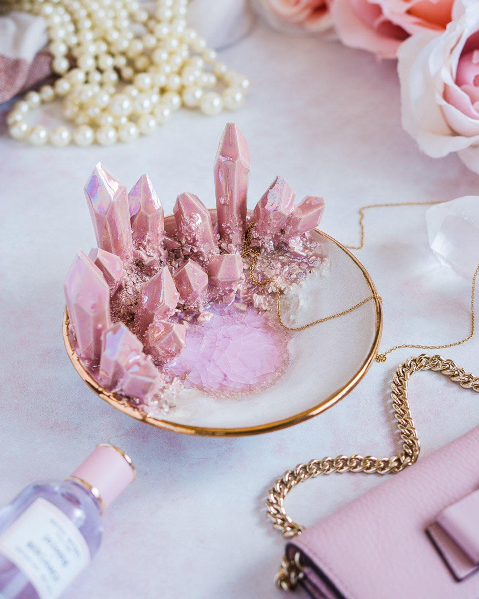 Design-Your-Own Rose Quartz Crystal Dish By Essarai Ceramics