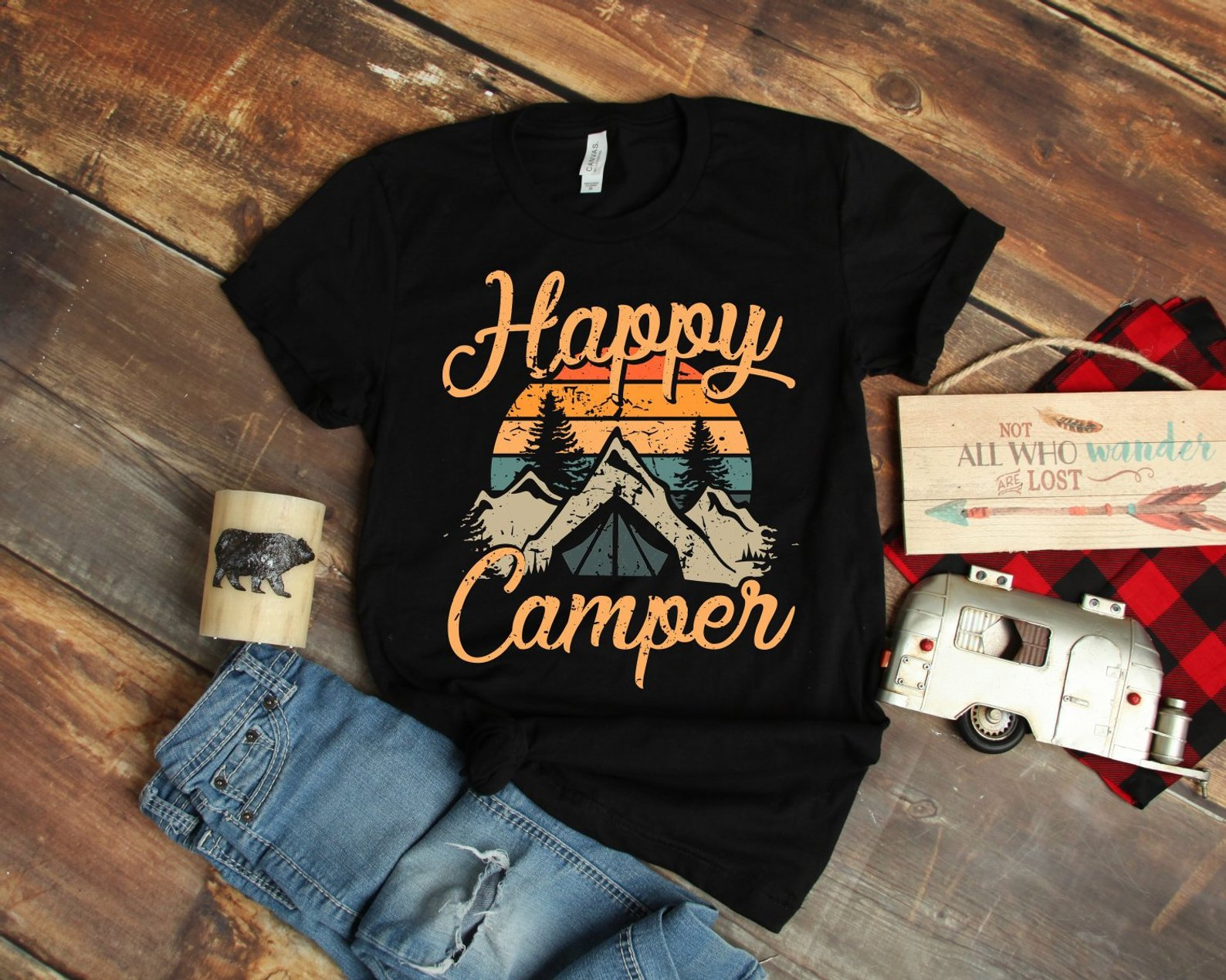 Happy Camper T-Shirt By Super Awesome Threads