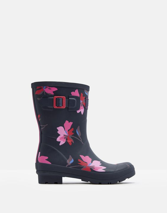 Molly Navy Mid Height Rain Boots By Joules