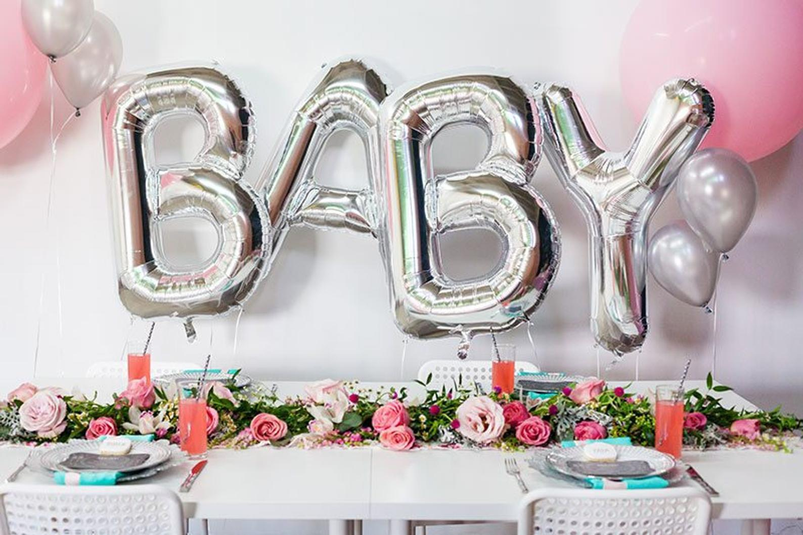 Giant Silver Baby Balloon Letters By The Party Avenue