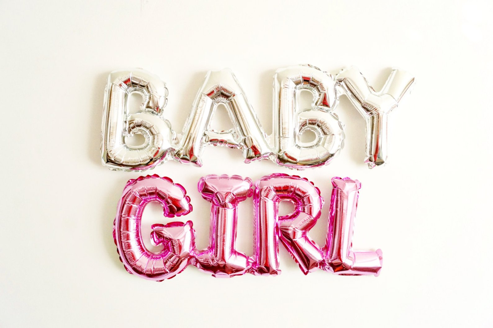 BABY GIRL Balloon Pink Mylar By Banzi Balloons