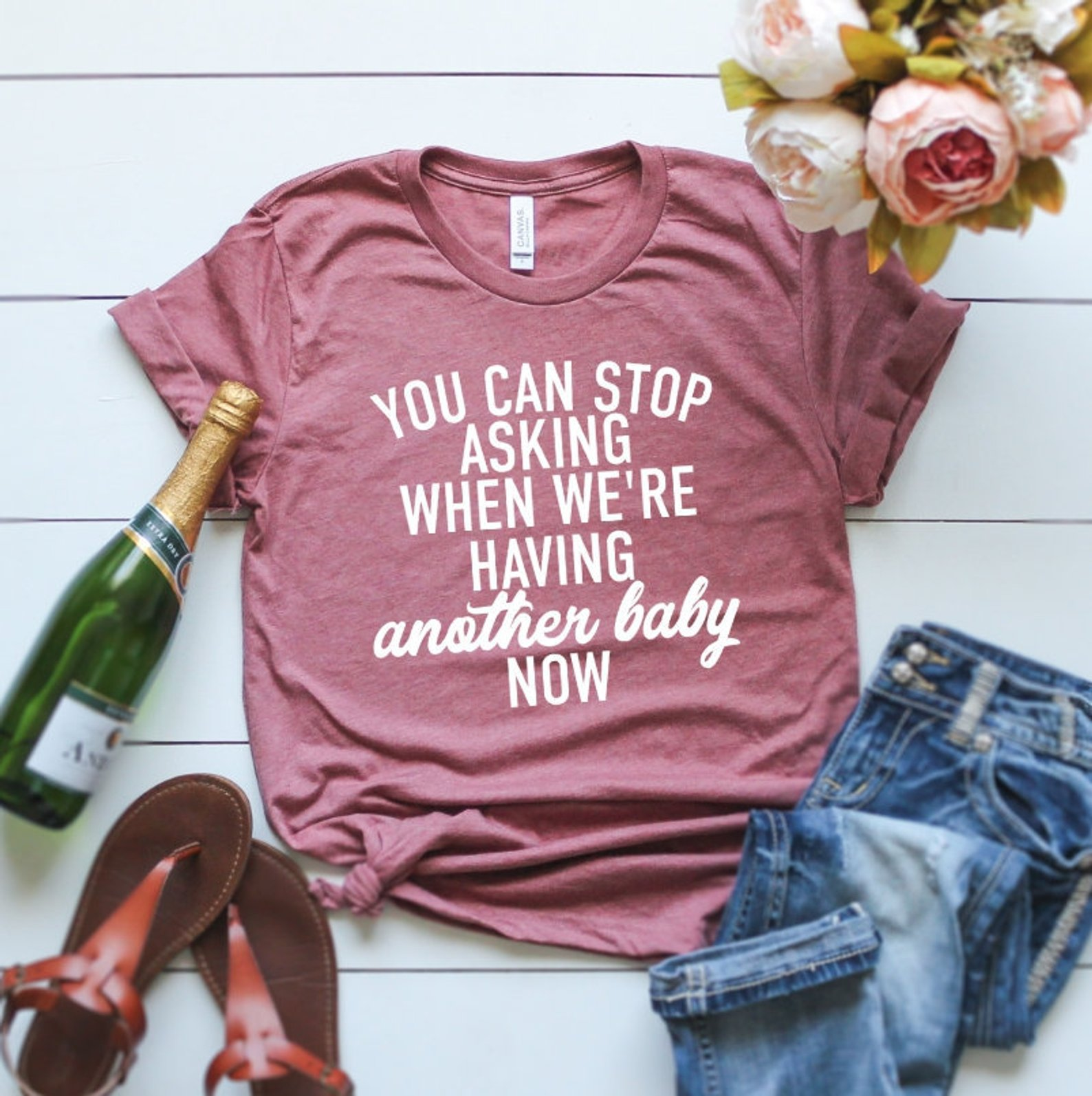 Pregnancy Reveal Graphic Tee By Love Lulu Bell