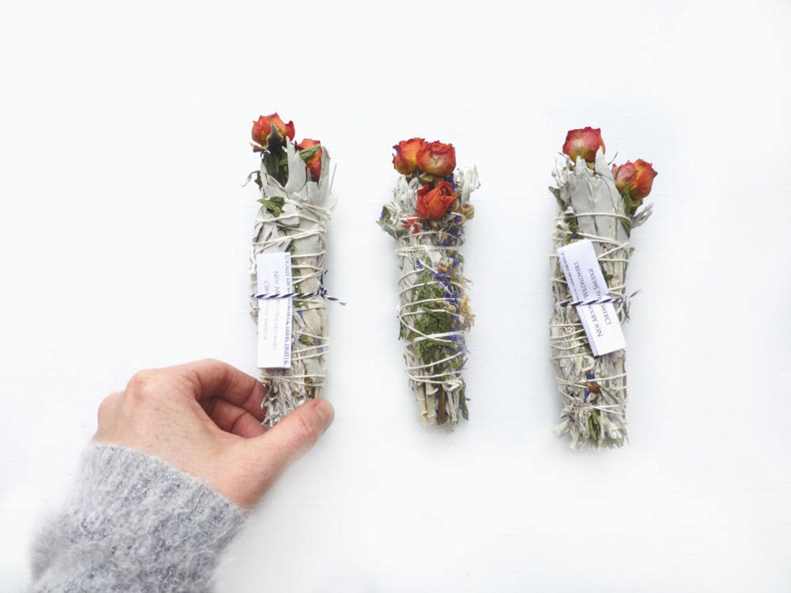 Wild-Crafted Dried Botanical Smudge Stick By Broad Street on Etsy