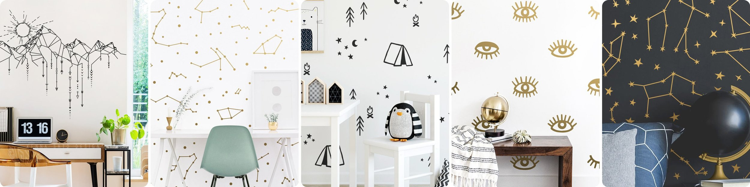 Modern and Trendy Wall Decals By Kenna Sato Designs